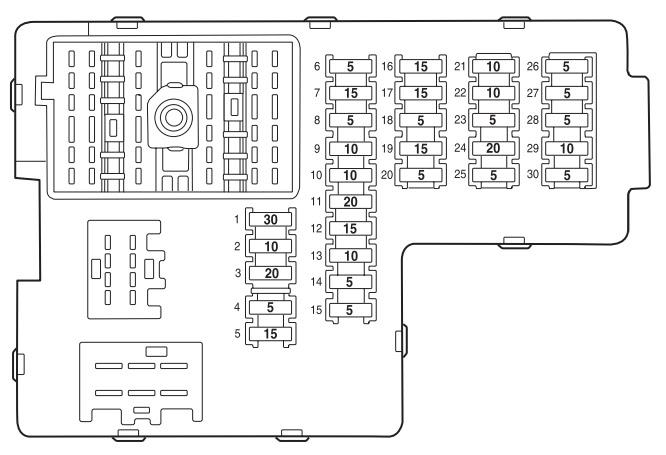 Lincoln Aviator 2002 2005 Fuse Box Diagram Auto Genius