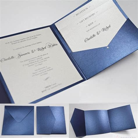 make your own wedding invitations kits navy   Google