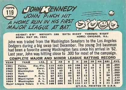 John Kennedy (back) by you.