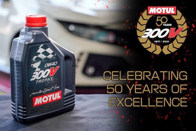 Motul Celebrates Golden Jubilee of the Iconic 300V