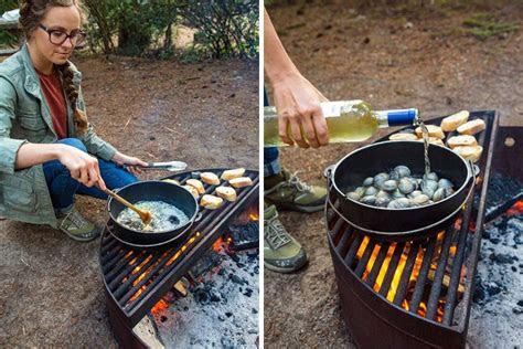 campfire steamed clams fresh   grid recipe