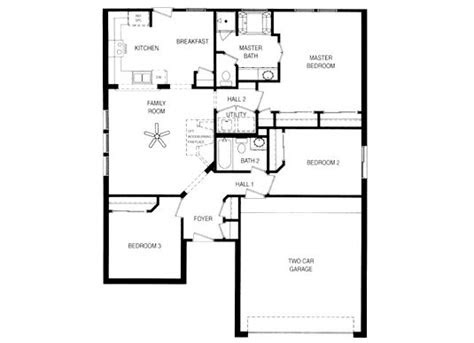 simple house floor plans  story home decor garage