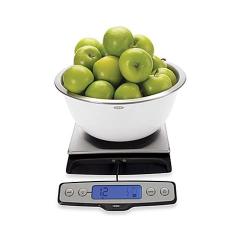 oxo  pound food scale  pull  display bed bath