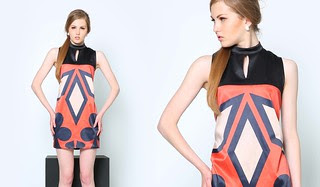 Optic Sleeveless Dress with Mandarin Collar, Php 1395