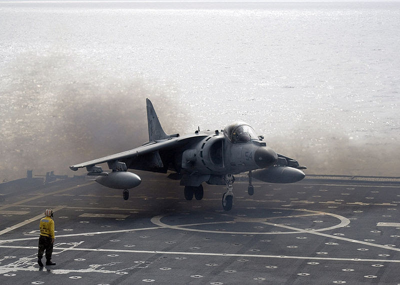 File:AV-8B Harrier II landing on USS Juneau ID 061106-N-7798B-004.jpg