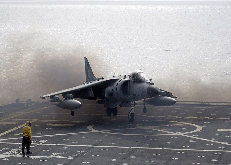 File:AV-8B Harrier II landing on USS Juneau ID 061106-N-7798B-004.jpg