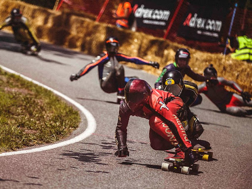 Downhill Skateboarding Race