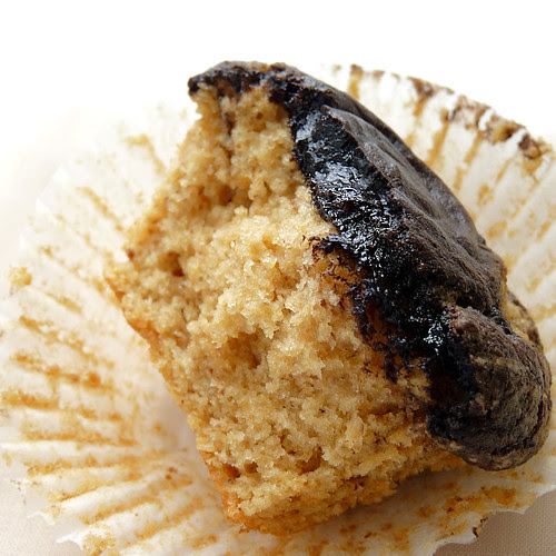 Self-Frosting Peanut Butter Cupcakes- My Sweet Vegan