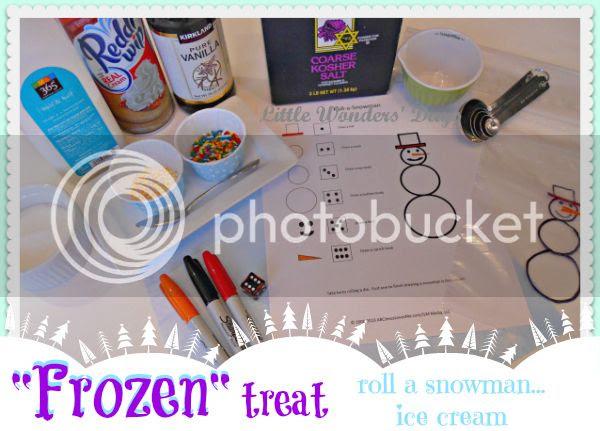 Disney movie Frozen go along snack