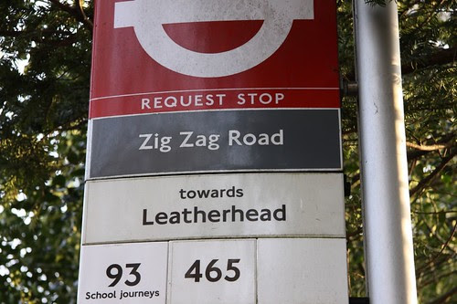 zig zag road; leatherhead - euphemism for a hangover? by ultraBobban