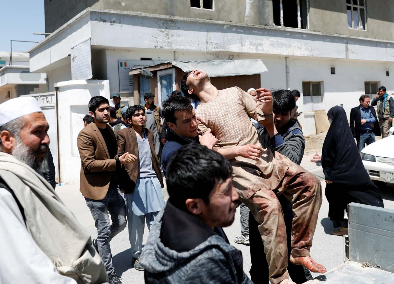 Resultado de imagen para 31 muertos en atentado contra oficina de censo electoral en Kabul