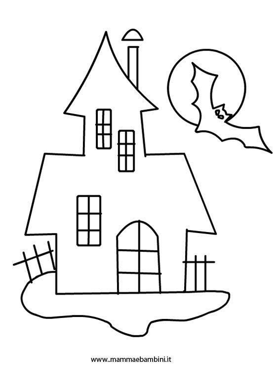Casa Fantasma Halloween Da Colorare Mamma E Bambini