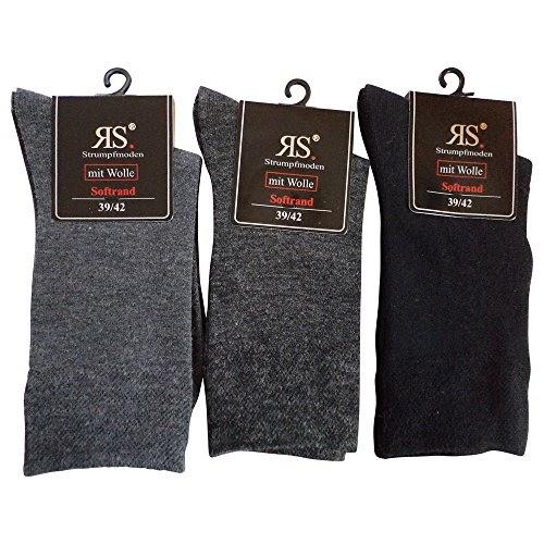 unifarben 6 Paar Damen Socken Mädchen Strümpfe Baumwolle Softrand ohne Gummi