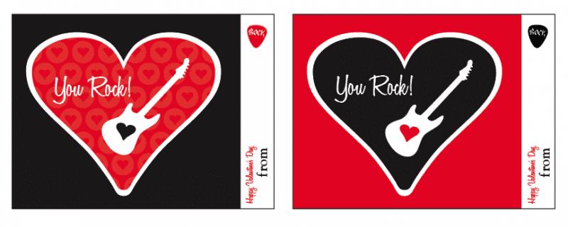 You Rock Free Printable Valentine Card