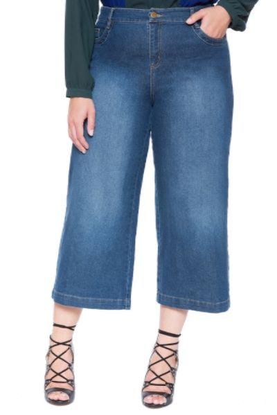 Eloquii Studio High Waist Culotte Jeans