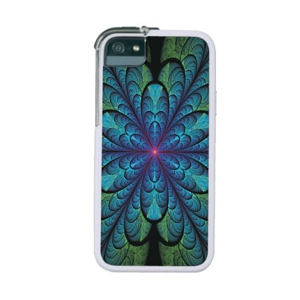 Feather Flower Fractal iPhone 5/5S Covers