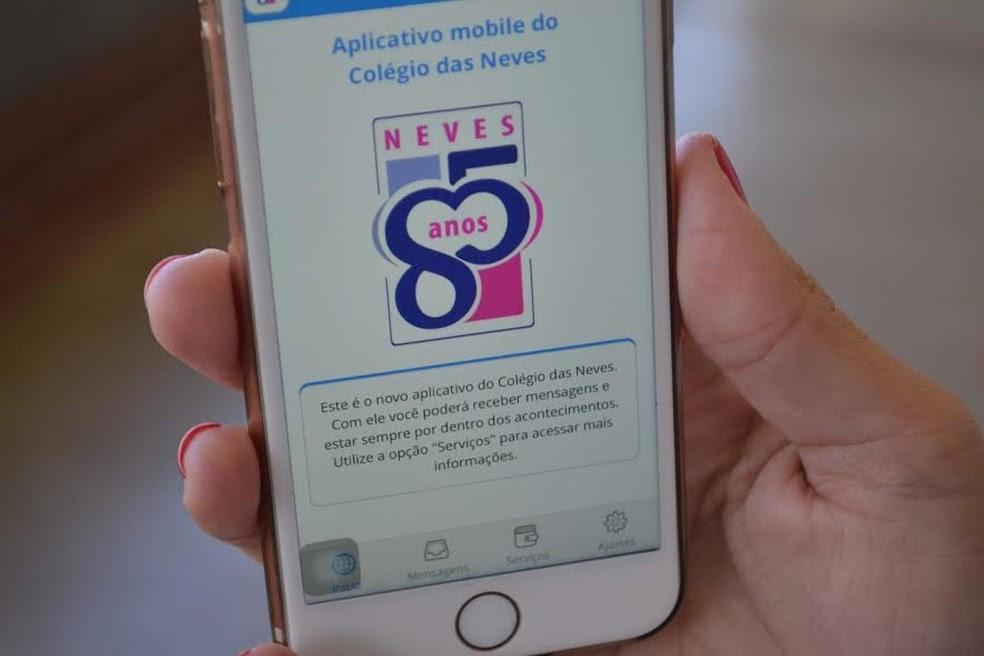 Escola investiu em aplicativo que proporciona uma comunicação clara e instantânea com pais (Foto: Kelvin Oliveira)