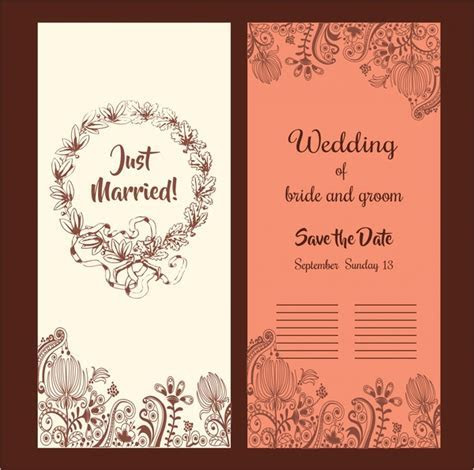 Wedding card background designs free vector download