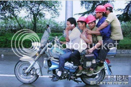 moto surchargee en chine