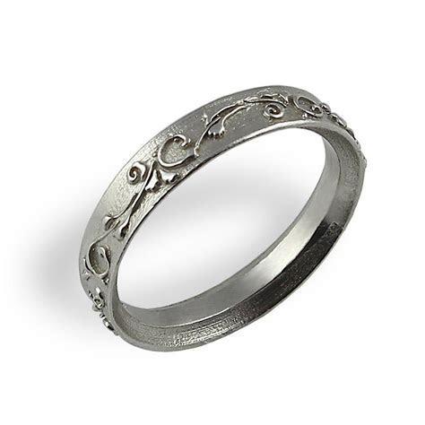 Ornament Wedding Band , White Gold , Unique Wedding Ring