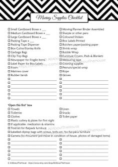 DARK BLUE EDITABLE Moving Planner Checklist Binder Printable ...