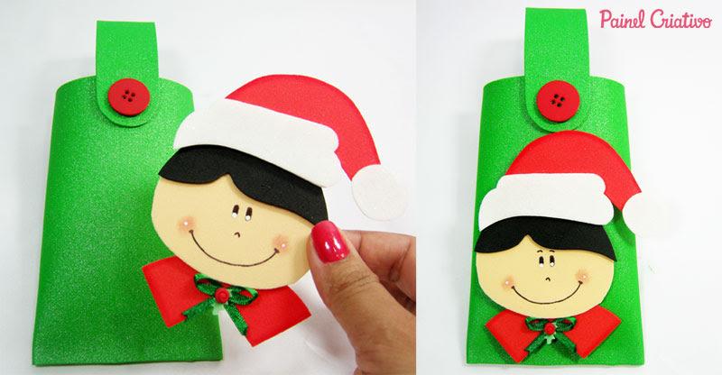 como fazer lembrancinha natal eva alunos escola porta guloseimas (3)