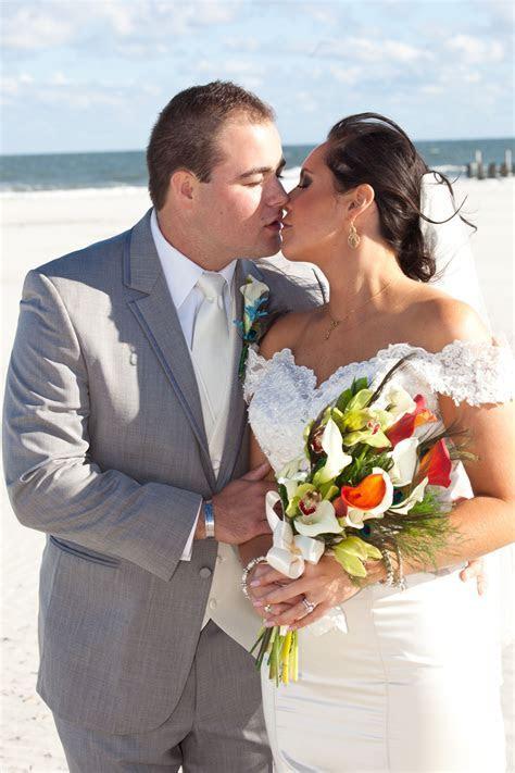 The Beautiful Couple following their Beach Wedding