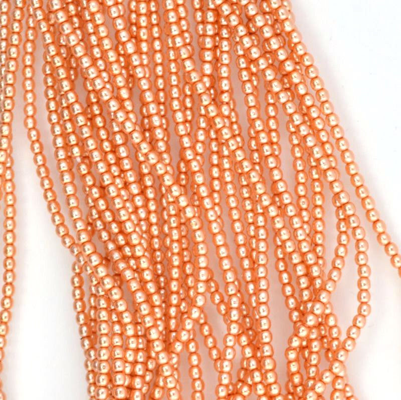s44390 Glass Pearls - 2 mm Round - Navajo Copper (strand 150)
