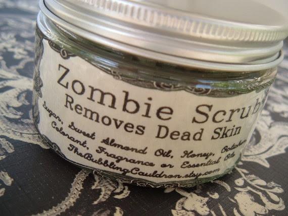 Zombie Scrub - Removes Dead Skin - Eucalyptus Oils - 4 ounces