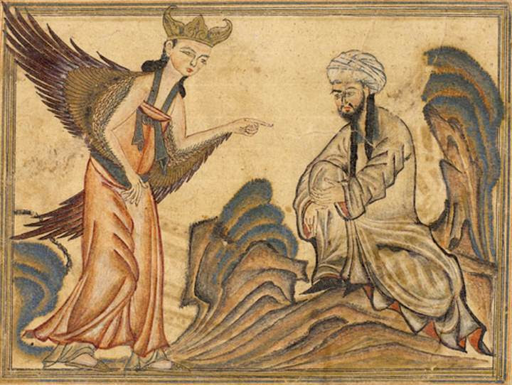 File:Mohammed receiving revelation from the angel Gabriel.jpg