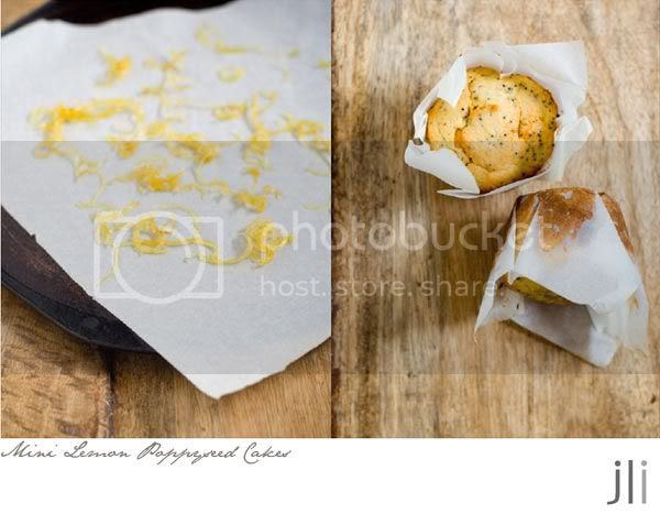 little lemon poppyseed cakes