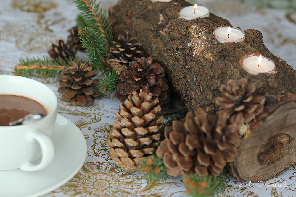 DIY Tealight Log