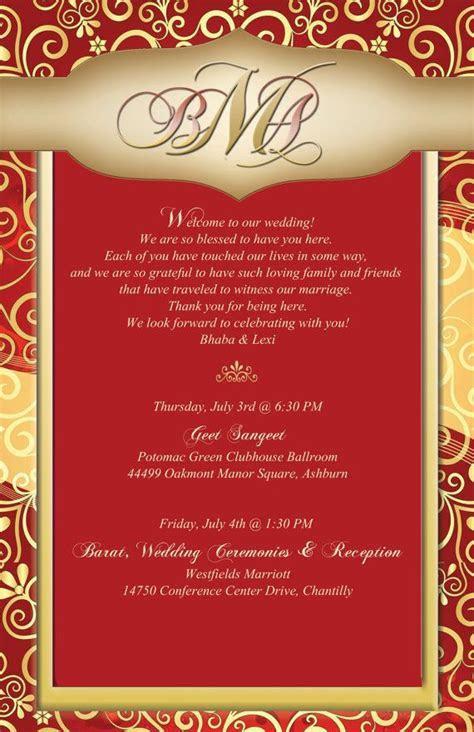 20 Indian wedding stationary   Hindi wedding welcome note