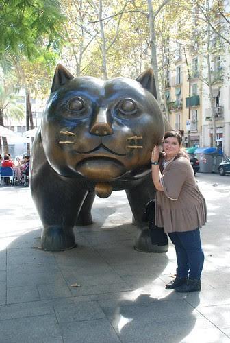 Barcellona - il gatto di Botero in mezzo alla Rambla del Raval