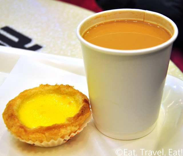 Honolulu Cafe- Egg Tart with Milk tea