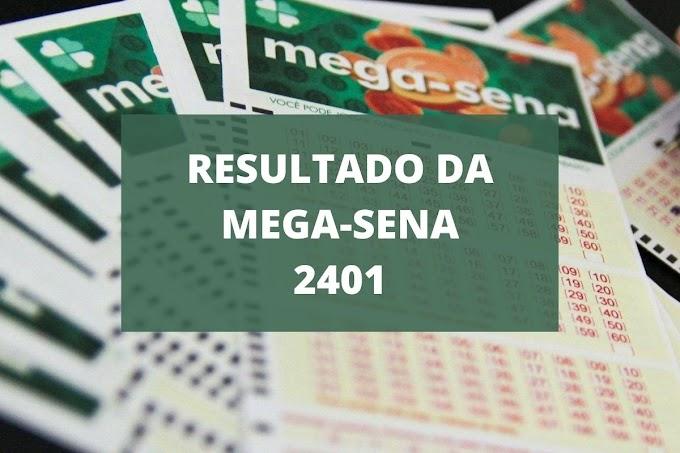 Resultado da Mega-Sena 2401 de hoje, quarta-feira (18/08/21)