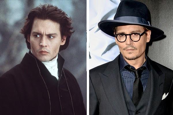 Johnny Depp em 1999 e hoje em dia (Foto: Getty Images)