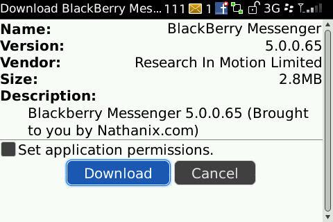 BlackBerry Messenger V.5.0.0.65 Leaked Version