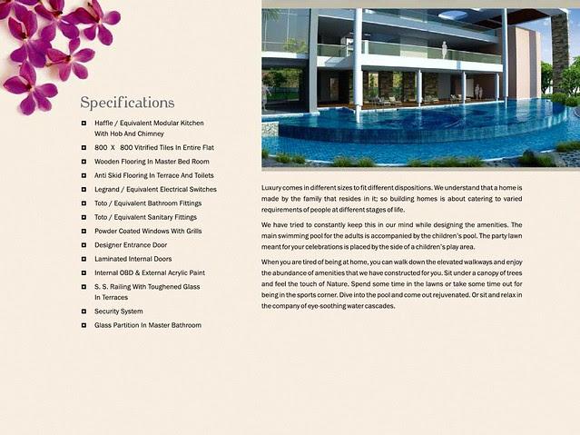 Specifications of Pebbles II by Abhinav Group & Rainbow Housing, 2 BHK & 3 BHK Flats, behind DSK Toyota Showroom, at Bavdhan Budruk, Pune 411021