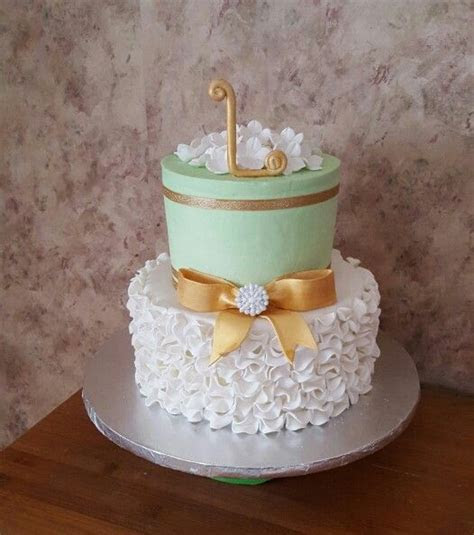 Mint Green / White and Gold 50th Birthday Cake   Cakes in