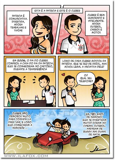 convite em história em quadrinhos personalizados para casamento, Natal - Rio Grande do Norte, by ila fox