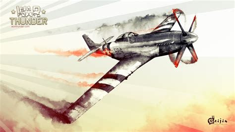 full hd wallpaper war thunder retro fighter poster