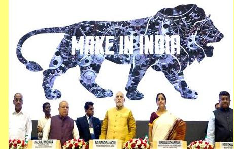 Lançamento da campanha, com Modi ao centro.