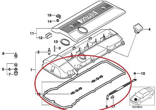 BMW E46 325i 330i Valve Cover Gasket Set  Johnny\u002639;s replacement parts