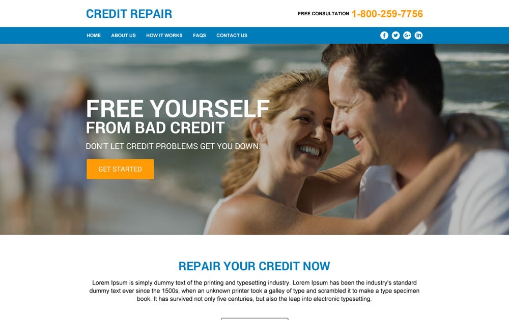 Credit Repair Html Templates To Create Your Brand New Website - Credit repair website template