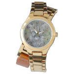 cute baby cougar big cat wildlife realist art wrist watches