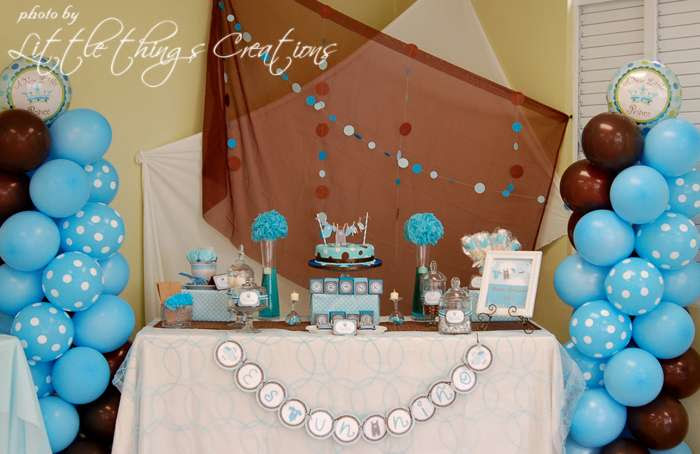 Blue And Brown Baby Shower Decorations Baby Interior Design