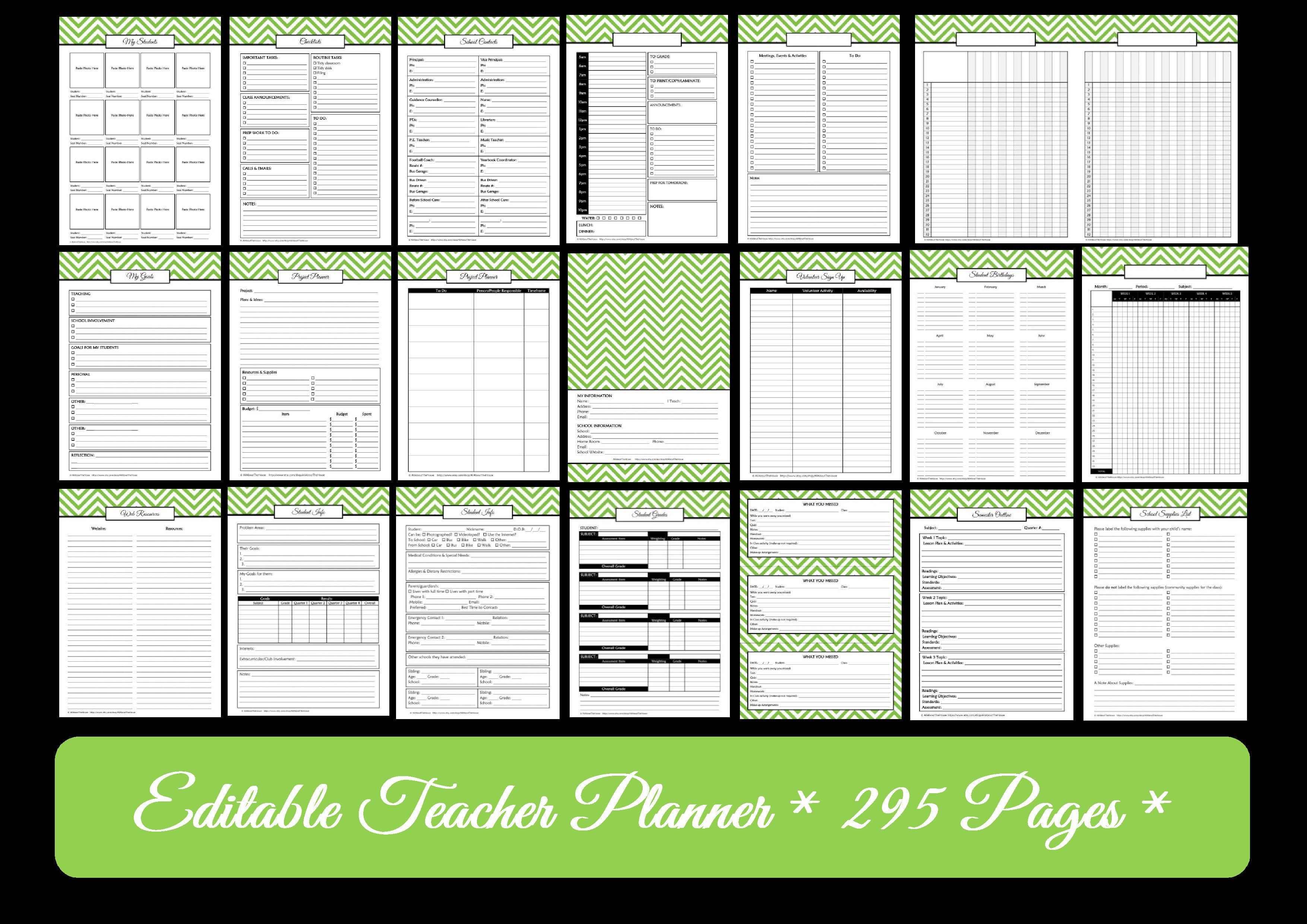 Editable Chevron Printable Teacher Planner! | AllAboutTheHouse ...