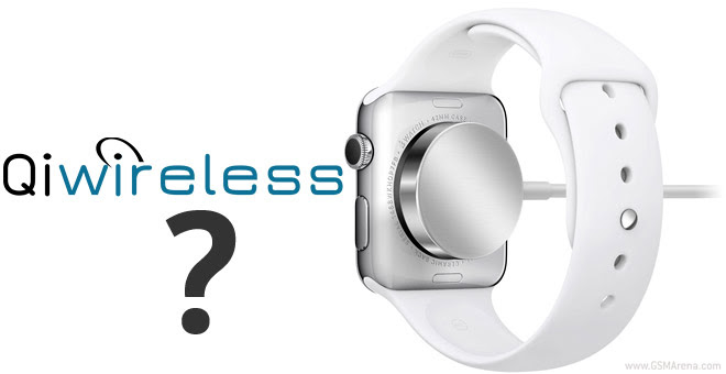 The Apple Watch charger works with Qi-enabled devices