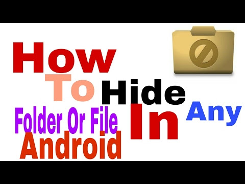 How to Hide any files without Thirdparty Apps on Android